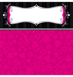 pink valentine background with many hearts vector image