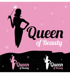 Queen of Beauty logo design vector image