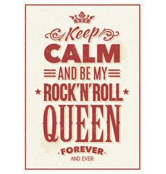 rock queen typography vector image