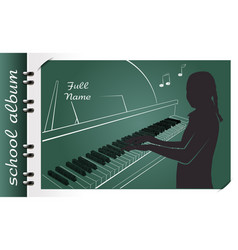 school album piano vector image