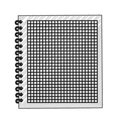 scribble notebook cartoon vector image