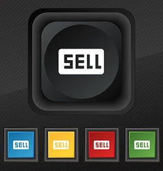 Sell Contributor earnings icon symbol Set of five vector