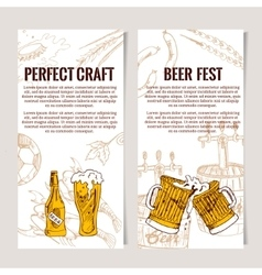 Set of vertical Beer Horizontal banners Good as a vector image