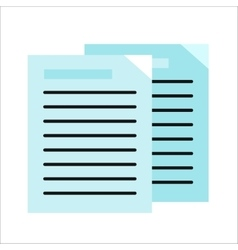 Sheet Paper with List vector image