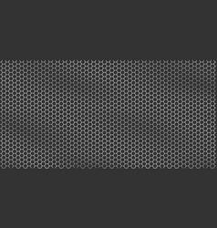 silver metallic texture - metal grid background vector image