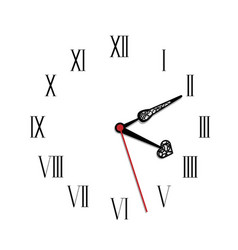 simple black and white watch seventeenth edition vector image