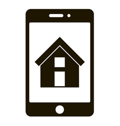 smartphone house icon simple style vector image