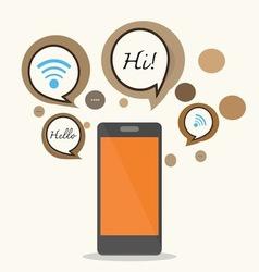 Smartphoneconcept design vector image