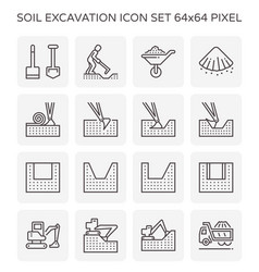 soil excavation icon vector image