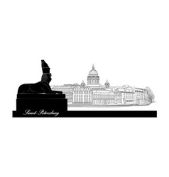 St petersburg city russia saint isaacs cathedral vector