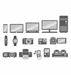 technology products flat icon visual pack vector image