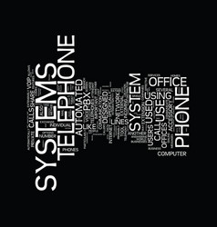telephone systems in the office text background vector image