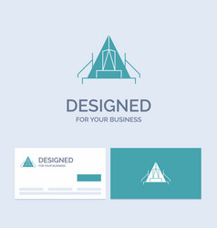 Tent camping camp campsite outdoor business logo vector