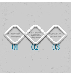 Three geometric numbered banners vector image