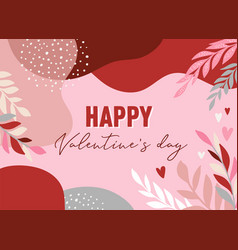 valentines day abstract backgrounds with copy vector image