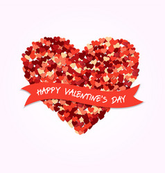 valentines day heart shape love greeting card vector image