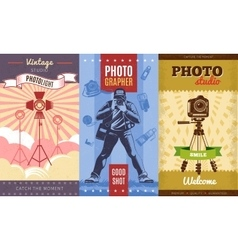 Vintage Photographer Poster Set vector