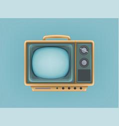 vintage tv set television vector image