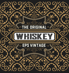Vintage whiskey card vector