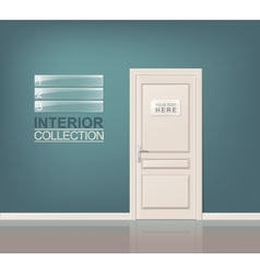 White Wooden Door vector