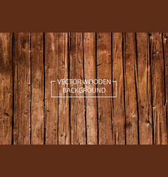 Wooden background brown wood planks vector