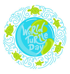 world turtle day vector image