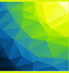 Yellow green blue background low poly vector