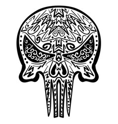 Zentangle stylized skull freehand sketch vector