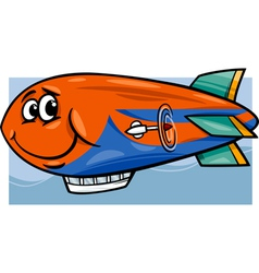 Zeppelin airship cartoon vector