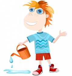 boy Aquarius vector image vector image