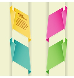 collect paper origami banner element for design vector image vector image