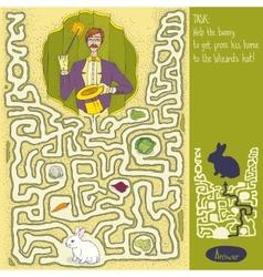 Wizard Maze Game vector image