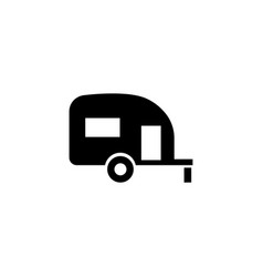 caravan trailer home flat icon vector image