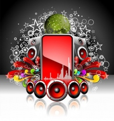 dj music poster vector image vector image