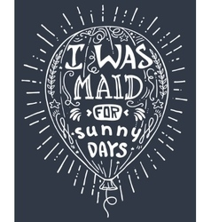 hand drawn lettering vector image