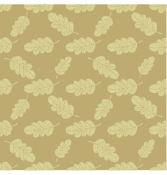 Seamless oak leaves background vector image vector image