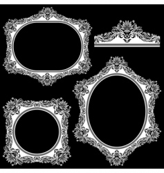 set from frame vector image
