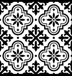 spanish tile pattern moroccan tiles seamless vector image vector image