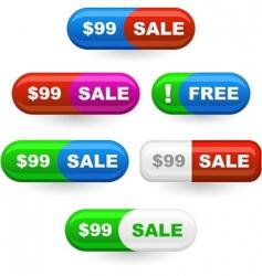 various sale design elements vector image vector image
