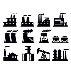 building factory icon vector image vector image