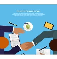 Business conversation design color flat vector