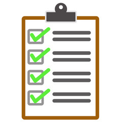 checklist icon from business vector image