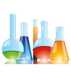 Chemical flasks vector image