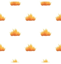 Fire icon cartoon pattern silhouette fire vector image