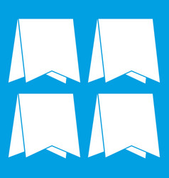 pennants icon white vector image