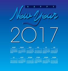2017 Creative Happy New Year calendar vector image