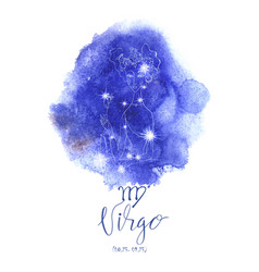 astrology sign virgo vector image