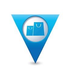 bags icon map pointer blue vector image