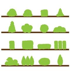 bush icon vector image vector image