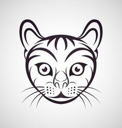 Cat logo vector image vector image